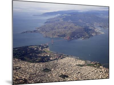Golden Gate Bridge, San Francisco North to Marin Headlands, California, USA-Marli Miller-Mounted Photographic Print