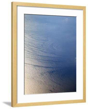 Aerial View of Wave Patterns Created by Ocean Currents, Pacific Ocean, California, USA-Marli Miller-Framed Photographic Print