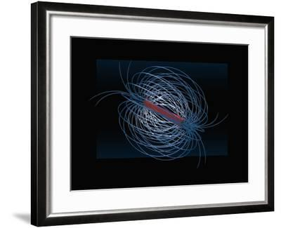 Three Dimensional Visualization of the Magnetic Field of a Bar Magnet-Carol & Mike Werner-Framed Photographic Print
