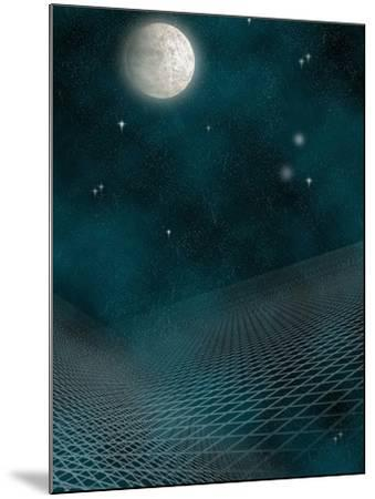 Space Background with the Moon and Stars-Carol & Mike Werner-Mounted Photographic Print