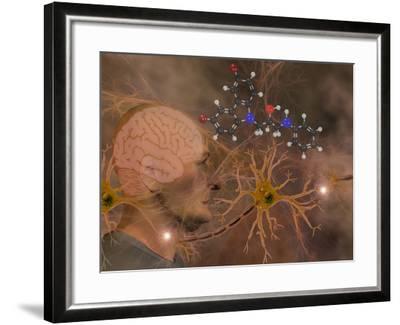 Illustration of P7C3 and Alzheimer's Disease-Carol & Mike Werner-Framed Photographic Print