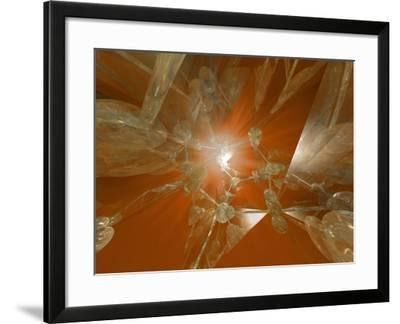 Abstract View of a Molecular Model of Ice Structure-Carol & Mike Werner-Framed Photographic Print