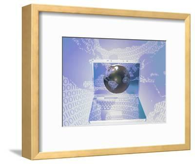 Illustration of Global Reach or the Concept of Doing Business Globally Via the Internet-Carol & Mike Werner-Framed Photographic Print