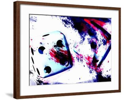 Abstract Dice Rolling Seven-Carol & Mike Werner-Framed Photographic Print