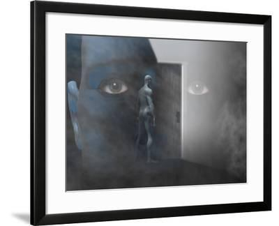Biomedical Illustration of Self Discovery, Showing a Door Opening Within the Mind-Carol & Mike Werner-Framed Photographic Print