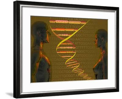 Biomedical Illustration of the Personal Human Genome, the Concept of Individual DNA Testing-Carol & Mike Werner-Framed Photographic Print