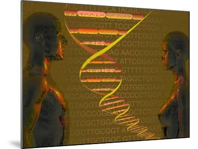 Biomedical Illustration of the Personal Human Genome, the Concept of Individual DNA Testing-Carol & Mike Werner-Mounted Photographic Print