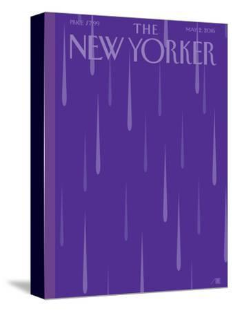 Prince Purple Rain New Yorker Magazine Cover - May 2, 2016-Bob Staake-Stretched Canvas Print