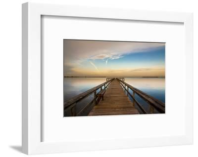 Sunrise on the Pier at Terre Ceia Bay, Florida, USA-Richard Duval-Framed Photographic Print