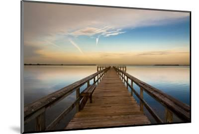 Sunrise on the Pier at Terre Ceia Bay, Florida, USA-Richard Duval-Mounted Photographic Print