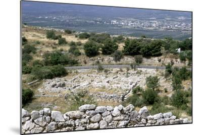 Ruins of the Prehistoric Greek City of Mycenae--Mounted Photographic Print
