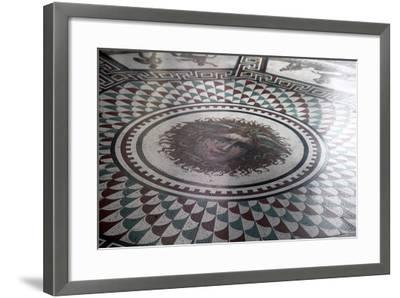Floor Mosaic in the Pavilion Hall, State Hermitage Museum, St Petersburg, Russia, 1847-1851-Andrei Ivanovich Stakenschneider-Framed Photographic Print