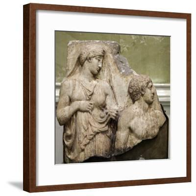 Heracles in the Garden of the Hesperides, Fragment of a Relief, Early 2nd Century--Framed Photographic Print