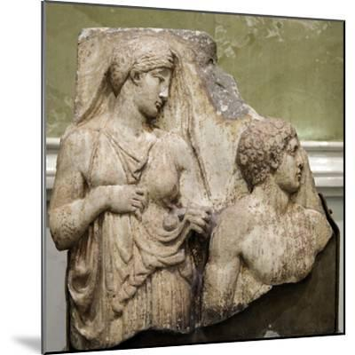 Heracles in the Garden of the Hesperides, Fragment of a Relief, Early 2nd Century--Mounted Photographic Print