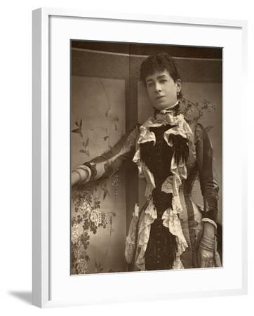 British Actress Lady Monckton in Jim the Penman, 1886- Barraud-Framed Photographic Print