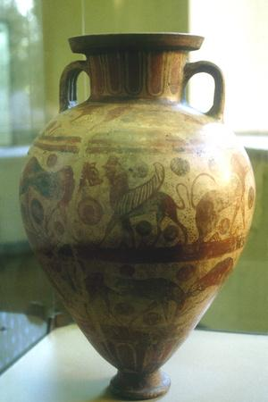 Etruscan Amphora Decorated with Mythical Beasts, C7th-6th Century Bc--Framed Photographic Print