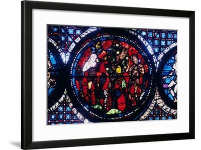 Adam and Eve (The Fall of Ma), Stained Glass, Chartres Cathedral, France, 1194-1260--Framed Photographic Print