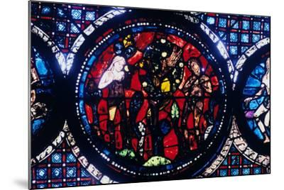 Adam and Eve (The Fall of Ma), Stained Glass, Chartres Cathedral, France, 1194-1260--Mounted Photographic Print