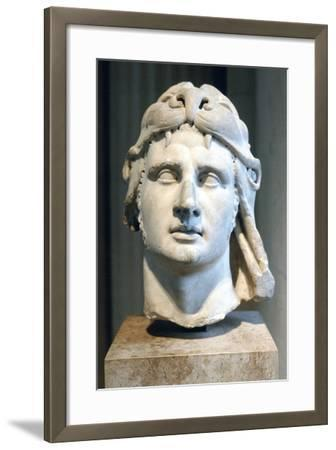 Portrait Bust of Alexander the Great--Framed Photographic Print
