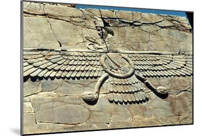 Ahura Mazda, Persepolis, C500 Bc--Mounted Photographic Print