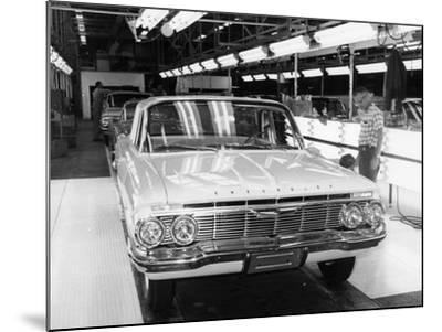Chevrolet Assembly Line--Mounted Photographic Print