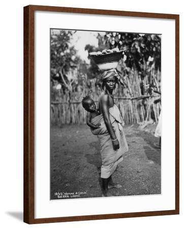Woman and Child, Sierra Leone, 20th Century--Framed Photographic Print
