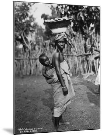 Woman and Child, Sierra Leone, 20th Century--Mounted Photographic Print