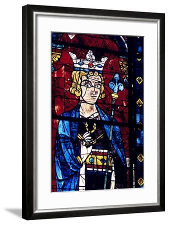 Solomon, Stained Glass, Chartres Cathedral, France, 1194-1260--Framed Photographic Print