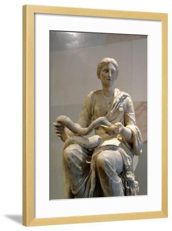 Statue of Hygieia, Goddess of Health--Framed Photographic Print