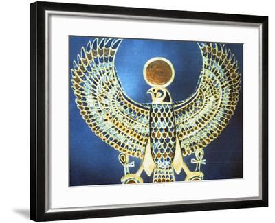 Pectoral Showing the God Horus, Ancient Egyptian, 18th Dynasty, C1325 Bc--Framed Photographic Print