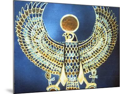 Pectoral Showing the God Horus, Ancient Egyptian, 18th Dynasty, C1325 Bc--Mounted Photographic Print