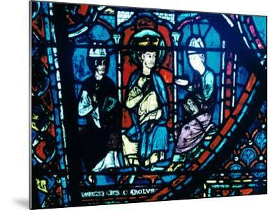 Constantine's Letter Presented to Charlemagne, Stained Glass, Chartres Cathedral, France, C1225--Mounted Photographic Print