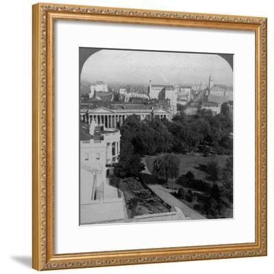 The White House and the Treasury Building, Washington DC, USA-Underwood & Underwood-Framed Photographic Print