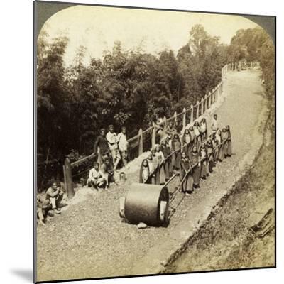 Women Working on the Darjeeling Highway, India-Underwood & Underwood-Mounted Photographic Print
