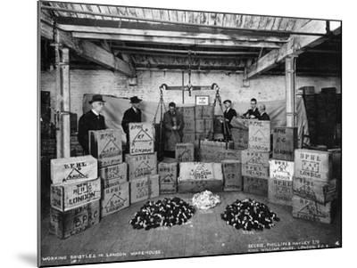 Working with Bristles in a Warehouse, London, 1938--Mounted Photographic Print