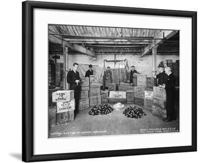Working with Bristles in a Warehouse, London, 1938--Framed Photographic Print