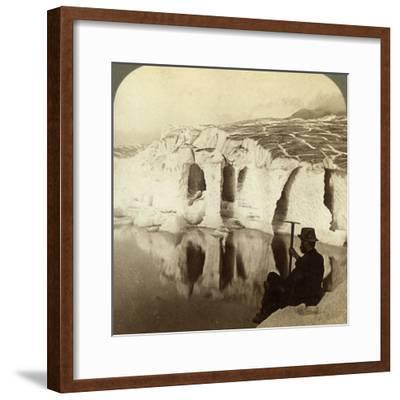 Aletsch Glacier and Marjelen Lake, Switzerland-Underwood & Underwood-Framed Photographic Print