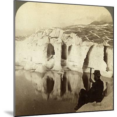 Aletsch Glacier and Marjelen Lake, Switzerland-Underwood & Underwood-Mounted Photographic Print
