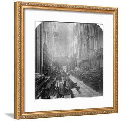 Interior of Westminster Abbey, London, Late 19th Century-Underwood & Underwood-Framed Photographic Print