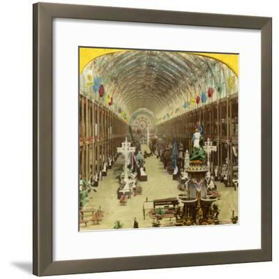 Interior View of the International Exhibition, London--Framed Photographic Print