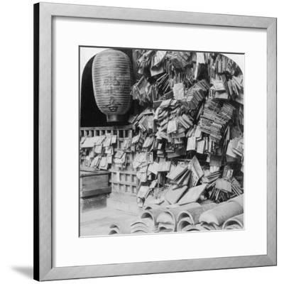 A Bundle of Buddhist Prayers, China, 1896-Underwood & Underwood-Framed Photographic Print