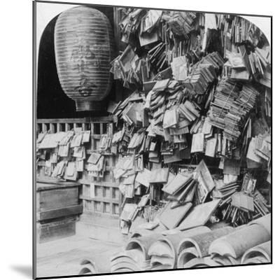 A Bundle of Buddhist Prayers, China, 1896-Underwood & Underwood-Mounted Photographic Print