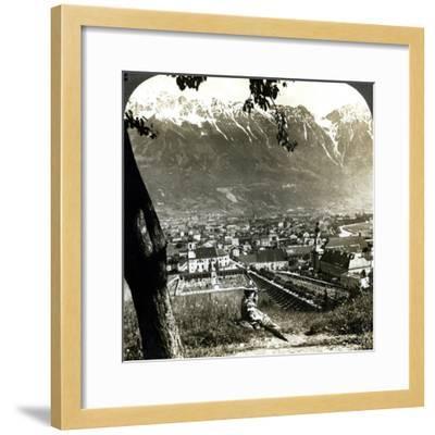 Innsbruck and the Bavarian Alps, Tyrol, Austria-Underwood & Underwood-Framed Photographic Print