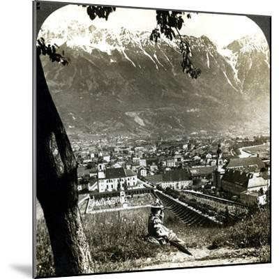 Innsbruck and the Bavarian Alps, Tyrol, Austria-Underwood & Underwood-Mounted Photographic Print