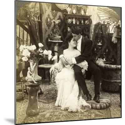 George Greatly Admires Ethel's Beautiful Complexion-Underwood & Underwood-Mounted Photographic Print