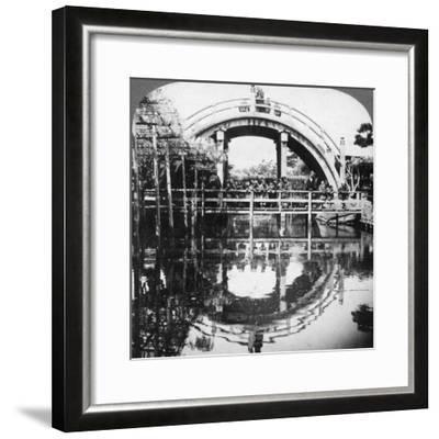 A Semi-Circular Bridge in Japan, 1896-Underwood & Underwood-Framed Photographic Print