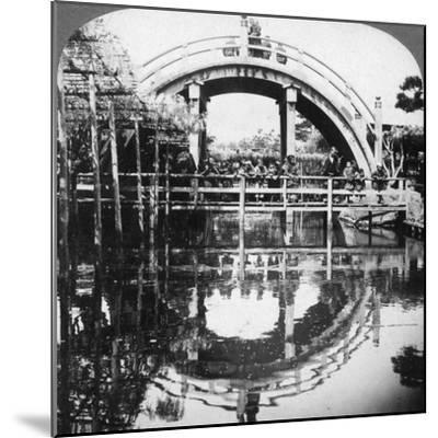 A Semi-Circular Bridge in Japan, 1896-Underwood & Underwood-Mounted Photographic Print