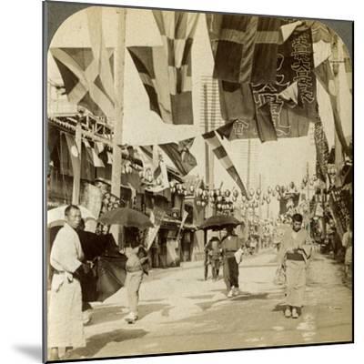 Theatre Street, Osaka, Japan-Underwood & Underwood-Mounted Photographic Print