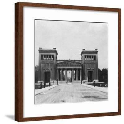 Propylaen, Munich, Germany, C1900-Wurthle & Sons-Framed Photographic Print