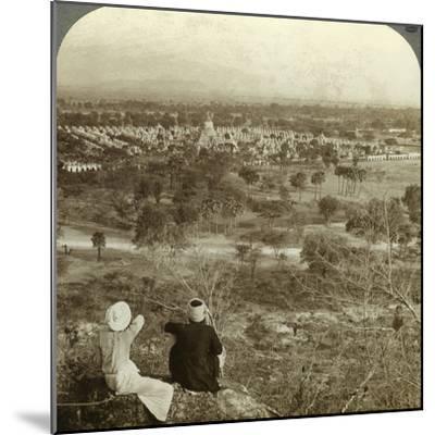 Pagodas, Mandalay, Burma, C1900s-Underwood & Underwood-Mounted Photographic Print